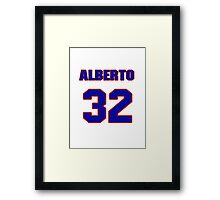 National baseball player Alberto Reyes jersey 32 Framed Print