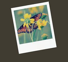 Butterfly Polaroid Womens Fitted T-Shirt