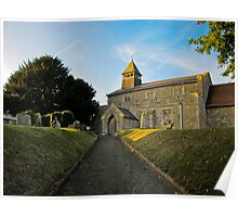 Old Church in England Poster
