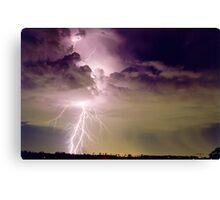 Sydney Lightning Canvas Print