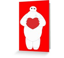 Baymax with Heart Greeting Card