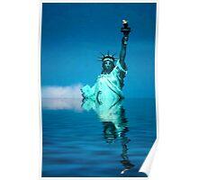 Lady Liberty Warming Poster
