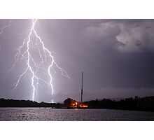 Ballina Ferry Lightning Photographic Print