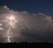 Coraki Thunderstorm and Lightning by Michael Bath