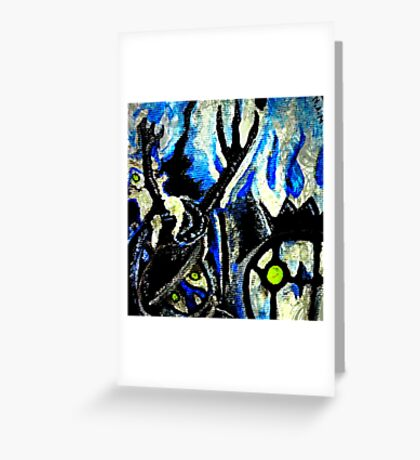 ghost night chandelure, lampent, litwick Greeting Card