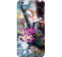 red Malus 'Radiant' crab apple blossoms#13 iPhone Case/Skin