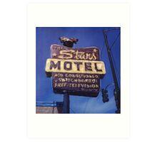 Stars Motel Art Print