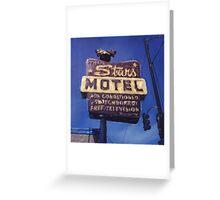 Stars Motel Greeting Card