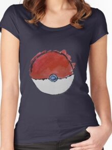 Scribble Pokeball Women's Fitted Scoop T-Shirt