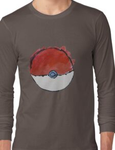 Scribble Pokeball Long Sleeve T-Shirt