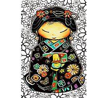 Little Multicolour Teapot Floral  Photographic Print