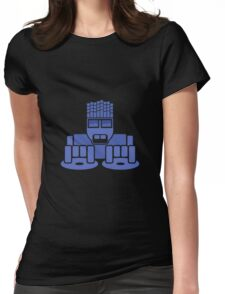DJ Equalizer (Blue Print) Womens Fitted T-Shirt