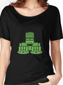 DJ Equalizer (Green Print) Women's Relaxed Fit T-Shirt