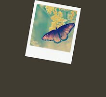 Butterfly Polaroid Blue Womens Fitted T-Shirt