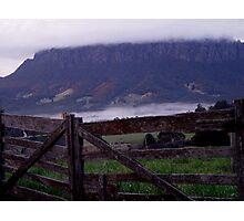 photoj Tas, Mt Roland, Early Morning Fog Photographic Print
