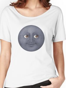 Moon Emoji Women's Relaxed Fit T-Shirt