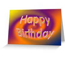 Groovy Happy Birthday Card Greeting Card