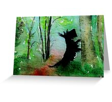 Scottie Dog 'Any Squirrels?' Greeting Card