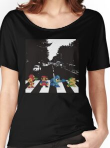 beatles nintndo mash up Women's Relaxed Fit T-Shirt