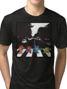beatles nintndo mash up Tri-blend T-Shirt