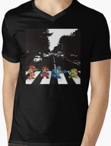 beatles nintndo mash up Mens V-Neck T-Shirt