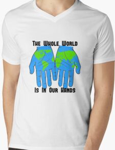 Whole World in our Hands Mens V-Neck T-Shirt