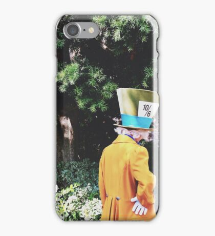 Alice In Wonderland's Mad Hatter  iPhone Case/Skin