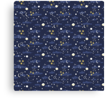 cosmos and stars Canvas Print