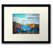 Jamison Valley ..Blue Mountain series Framed Print