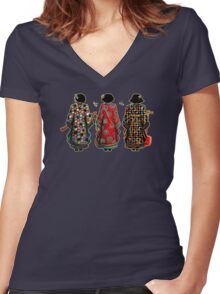 Tang Court Trio TShirt Women's Fitted V-Neck T-Shirt