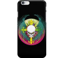 COLORFUL SKULL WITH WINGS - Bright Colors iPhone Case/Skin