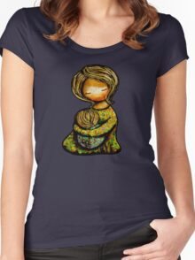 Madonna and Child TShirt Women's Fitted Scoop T-Shirt