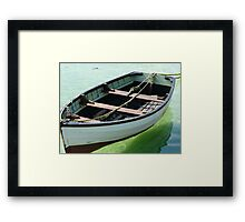 The calm of the habour. Framed Print