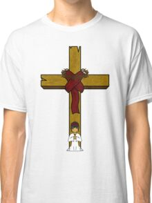 I Kneel At The Feet Of The Cross Classic T-Shirt