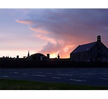 UK: Dusk at Tingwall, Shetland Islands Photographic Print