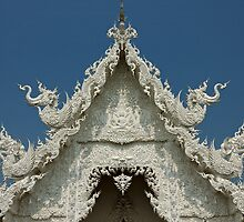 Wat Rong Khun  - The White Temple, Chiang Rai, Thailand by Alexander Gitlits