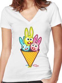 Ice CreaM Women's Fitted V-Neck T-Shirt