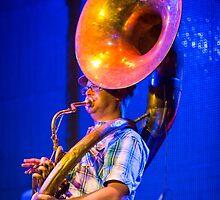 Aaron Richard, that Sousaphone Guy by blackhatphoto