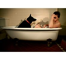 The Black Dog: Depression Photographic Print
