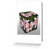 Pink Lily in Rubix Cube Greeting Card