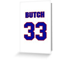 National baseball player Butch Davis jersey 33 Greeting Card