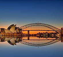 Sydney Harbour reflections by renekisselbach