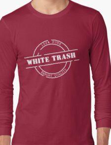 White Trash (WhitePrint) Long Sleeve T-Shirt