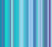 Lilac and Blue Stripes by Bamalam Art and Photography