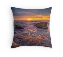 Whale Beach reflections Throw Pillow