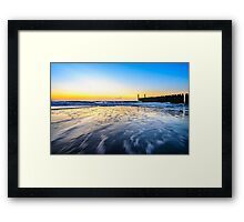 In the sea waves at Domburg beach, Holland Framed Print