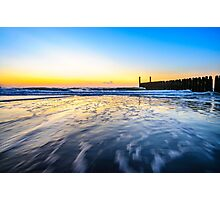 In the sea waves at Domburg beach, Holland Photographic Print