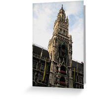 Clock Tower Munich Greeting Card