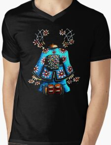 Asia Blue on Black TShirt by Karin Taylor T-Shirt