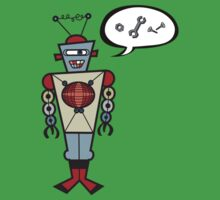 Robot Talking Nuts and Bolts Kids Tee